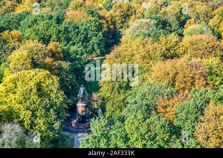 Tiergarten in autumn,  Berlin - Stock Photo