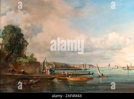 Waterloo Bridge by John Constable (1776-1837), oil on canvas, c.1820 - Stock Photo