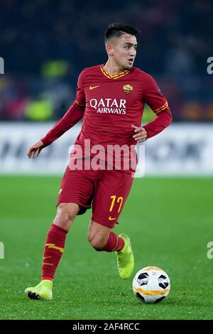 Cengiz Under of AS Roma during the UEFA Europa League match between AS Roma and Wolfsberger AC at Stadio Olimpico, Rome, Italy on 12 December 2019. Photo by Giuseppe Maffia. Credit: UK Sports Pics Ltd/Alamy Live News - Stock Photo