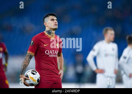 Diego Perotti of AS Roma during the UEFA Europa League match between AS Roma and Wolfsberger AC at Stadio Olimpico, Rome, Italy on 12 December 2019. Photo by Giuseppe Maffia. Credit: UK Sports Pics Ltd/Alamy Live News - Stock Photo