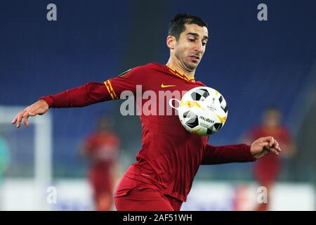 Henrik Mkhitaryan of Roma in action during the UEFA Europa League, Group J football match between AS Roma and Wolfsberg AC on December 12, 2019 at Stadio Olimpico in Rome, Italy - Photo Federico Proietti/ESPA-Images - Stock Photo