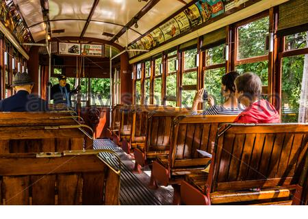 The Shore Line Trolley Museum _ East Haven, Connecticut, USA - Stock Photo