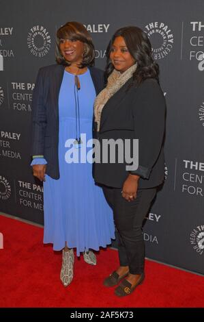 NEW YORK, NY - DECEMBER 12: Nichelle Tramble and Octavia Spencer attend the 'Truth Be Told' screening at Paley Center For Media on December 12, 2019 i - Stock Photo