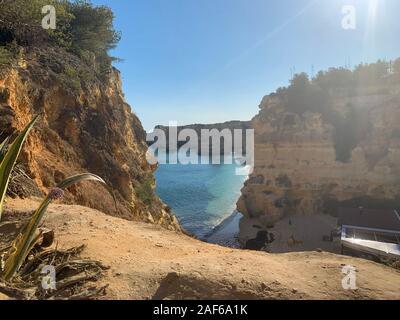 A view of a Praia da Rocha in Portimao, Algarve region, Portugal - Stock Photo