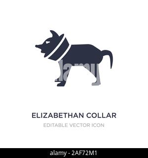 elizabethan collar icon on white background. Simple element illustration from Animals concept. elizabethan collar icon symbol design. - Stock Photo