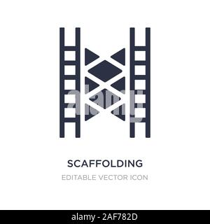 scaffolding icon on white background. Simple element illustration from Construction and tools concept. scaffolding icon symbol design. - Stock Photo