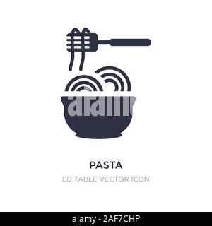 pasta icon on white background. Simple element illustration from Food concept. pasta icon symbol design. - Stock Photo