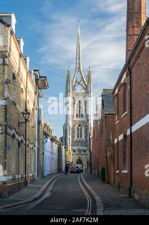 St Mary of Charity Church in the medieval market town of  Faversham, Kent, UK - Stock Photo