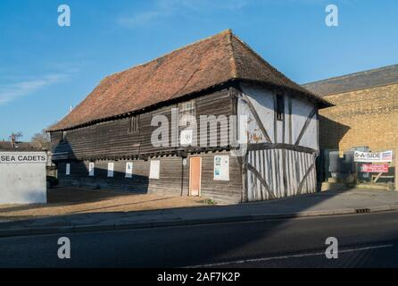 T S Hazard, The 15th century Town Warehouse in the medieval market town of  Faversham, Kent, UK - Stock Photo