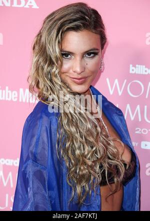 HOLLYWOOD, LOS ANGELES, CALIFORNIA, USA - DECEMBER 12: Internet personality Lele Pons arrives at the 2019 Billboard Women In Music Presented By YouTube Music held at the Hollywood Palladium on December 12, 2019 in Hollywood, Los Angeles, California, United States. (Photo by Xavier Collin/Image Press Agency) - Stock Photo