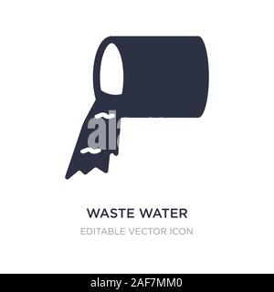 waste water icon on white background. Simple element illustration from Nature concept. waste water icon symbol design. - Stock Photo