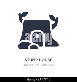 stump house icon on white background. Simple element illustration from Nature concept. stump house icon symbol design. - Stock Photo