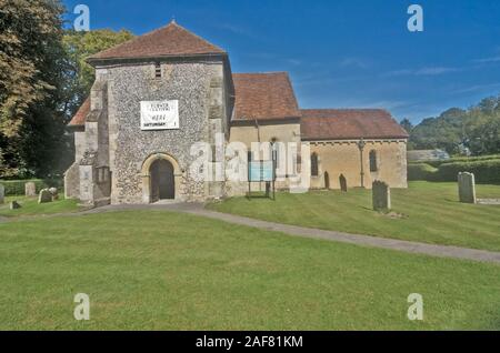 Bulford Village Wiltshire St Leonards Church - Stock Photo