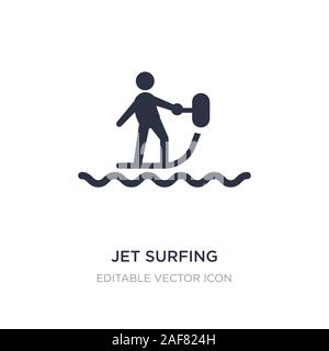 jet surfing icon on white background. Simple element illustration from Sports concept. jet surfing icon symbol design.