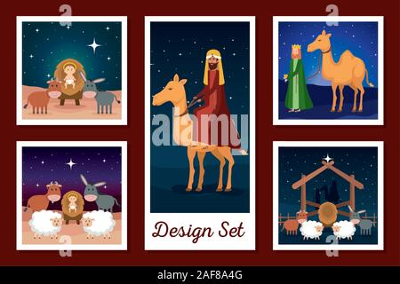 designs set of manger characters - Stock Photo