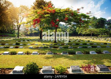 War cemetery for Anzac, British and Dutch soldiers killed in World War Two, Ambon, Indonesia - Stock Photo