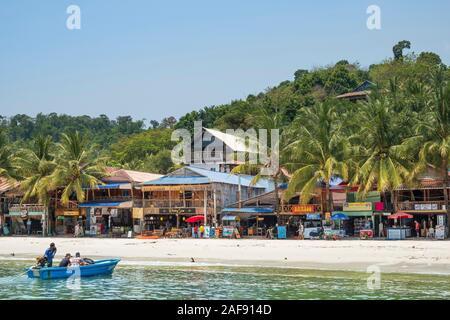 A beach on Koh Rong Island, Sihanoukville, Cambodia - Stock Photo