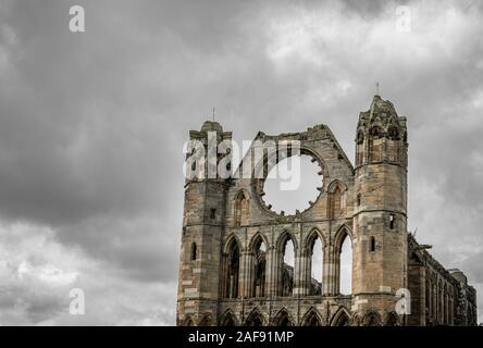 Ruins of the 13th century Elgin Cathedral near Moray in Scotland. - Stock Photo