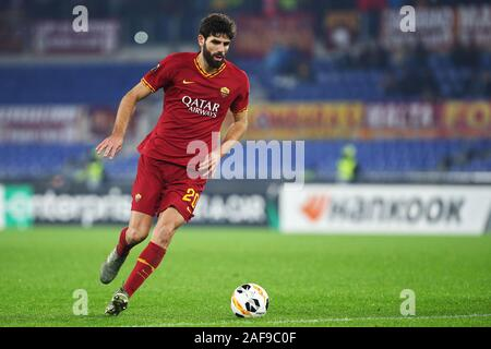 Federico Fazio of Roma in action during the UEFA Europa League, Group J football match between AS Roma and Wolfsberg AC on December 12, 2019 at Stadio Olimpico in Rome, Italy - Photo Federico Proietti/ESPA-Images - Stock Photo