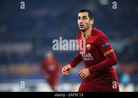 Henrikh Mkhitaryan of Roma in action during the UEFA Europa League, Group J football match between AS Roma and Wolfsberg AC on December 12, 2019 at Stadio Olimpico in Rome, Italy - Photo Federico Proietti/ESPA-Images - Stock Photo