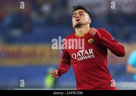 Cengiz Under of Roma reacts during the UEFA Europa League, Group J football match between AS Roma and Wolfsberg AC on December 12, 2019 at Stadio Olimpico in Rome, Italy - Photo Federico Proietti/ESPA-Images - Stock Photo