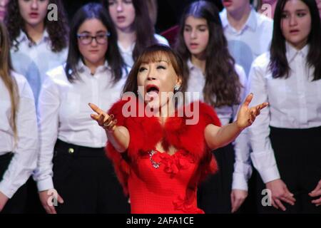 Sumi Jo, South Korean soprano in concert in Sassari, Sardinia, Italy , 2019 December, 12. - Stock Photo