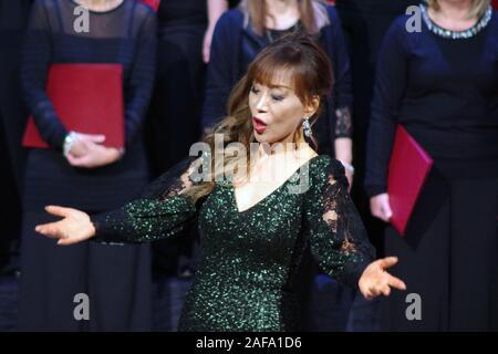 Sumi Jo, South Korean soprano in concert in Sassari, Sardinia, Italy , 2019 December, 12. - Stock Photo