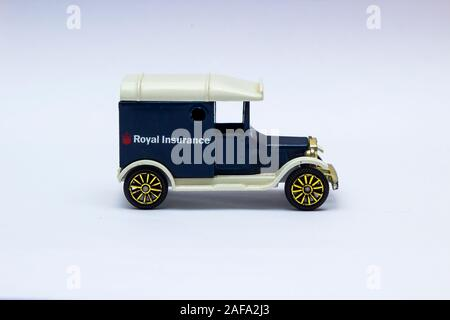 29 November 2019 Model T Ford die cast Scale Model Van collectible in the livery of now non existent Royal Insurance Company UK - Stock Photo