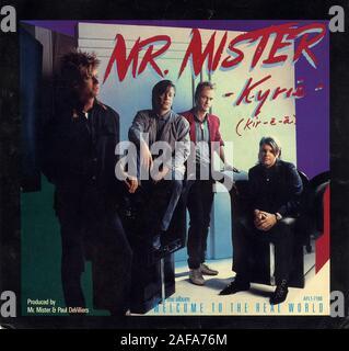 Mr. Mister - Kyrie - Vintage vinyl album cover - Stock Photo