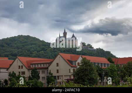 Castle Wernigerode in Germany. Harz. - Stock Photo