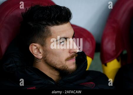 Rome, Italy. 12th Dec, 2019. Lorenzo Pellegrini of AS Roma during the UEFA Europa League match between AS Roma and Wolfsberger AC at Stadio Olimpico, Rome, Italy on 12 December 2019. Photo by Giuseppe Maffia. Credit: UK Sports Pics Ltd/Alamy Live News - Stock Photo