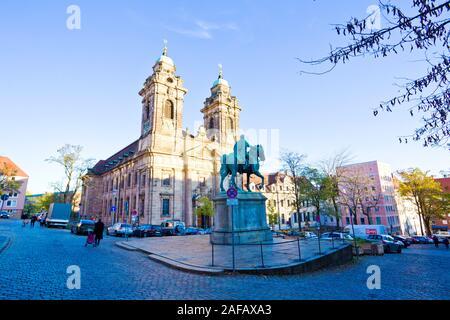 Nuremberg, Germany - October 2019 : Pellerhaus or Peller House is landmark in Nuremberg, Bavaria, Germany. - Stock Photo