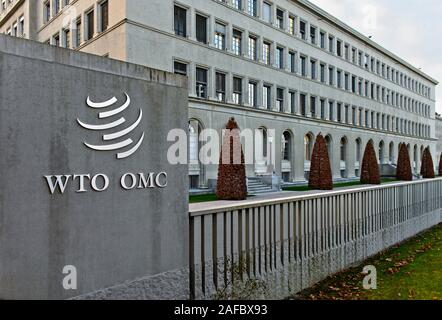 Headquarters of the World Trade Organization, WTO, at the Centre William Rappard, Geneva, Switzerland - Stock Photo