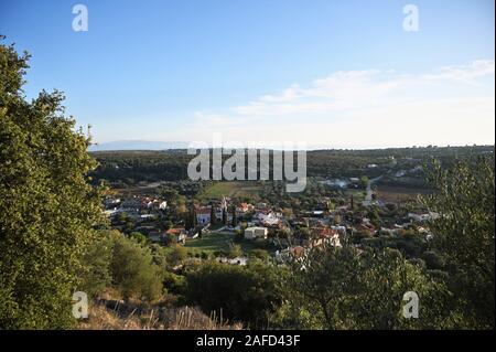 Travliata village in Kefalonia Greece - Stock Photo