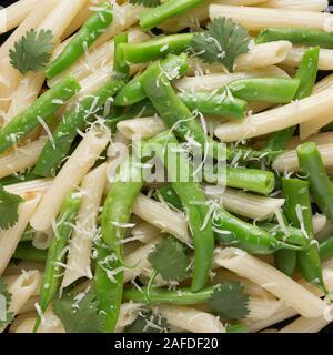 cream sauce, pasta gomiti, italian pasta, spaghetti carbonara, spaghetti carbonara, tagliatelle pasta, tagliatelle pasta, macro shot, arrabiata pasta - Stock Photo