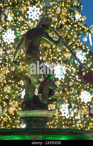 Christmas tree decorations on Dlugi Targ in Old Town in Gdansk, Poland. December 9th 2019© Wojciech Strozyk / Alamy Stock Photo - Stock Photo