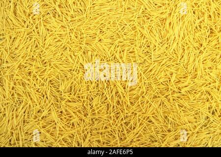 background with italian pasta vermicelli - Stock Photo