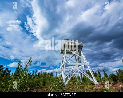 Ute Mountain Fire Tower National Historical Site, Ashley National Forest, Utah. - Stock Photo