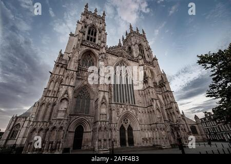 The West Front of York Minster, York, UK - Stock Photo