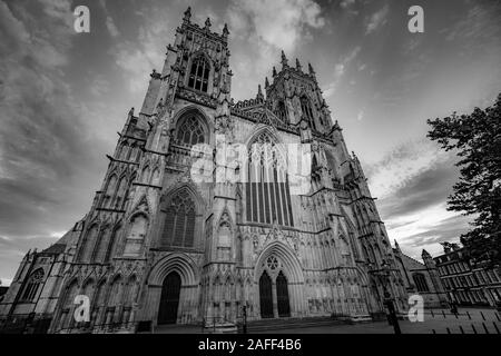 The West Front of York Minster - Stock Photo