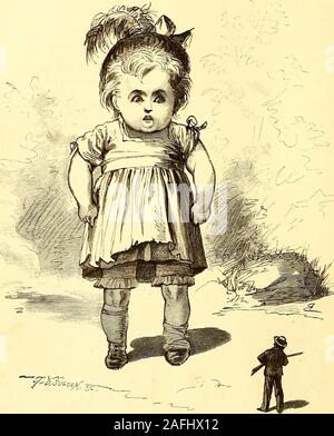. St. Nicholas [serial]. monster at a distance. Hebawled as loudly as he could: Hold up there!You stand off, will you? The giant appeared to hear him, but not to seehim. He opened his enormous rose-bud mouth,and turned his huge blue eyes in every direction.He looked out to sea, and then up and down theshore, and then straight into the sky, meanwhileturning slowly round on his immense trotters. io4 BUDSY, THE GIANT. [December, After he had stared about in this childish, droolingway for half a minute, he resumed his queer, tod-dling march toward the beach. He was within fiftyyards of Tommy, and - Stock Photo