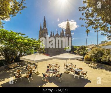 Landscape with Cathedral San Juan Bautista in Arucas, Gran Canaria, Spain