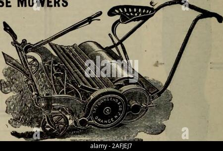 . Hardware merchandising August-October 1912. TOWNSEND MOWERS HAND MOWERS and HORSE MOWERS All Our Hand MowersAre Ball Bearing SENT ON THEIR MERITS Write for Catalog S. P. Townsend (8L Co. ORANGE. N. J.. Reap Good Profits - Stock Photo