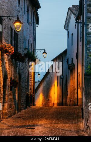 Sassoferrato (Ancona) - View from the Rocca Albornoz - Stock Photo