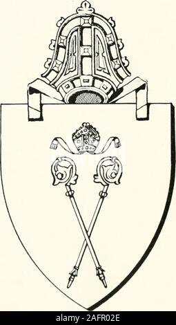 . The arms of the Scottish bishoprics. y intended to be the Candida Casa, the successor ofthe famous building of the founder of the see. The seals of the post-reformation Bishops bore as a rulethe paternal arms of their owners, but Bishop Paterson, whorecorded the arms of the diocese at the Lyon Office, impaledthose arms, which are at present in use, with his paternalarms. Thus both in the mediaeval church and in thereformed, we find the figure of the patron saint used asthe favourite device by the Bishops on their official seals. In the shield of arms of the diocese, it would be appro-priate - Stock Photo