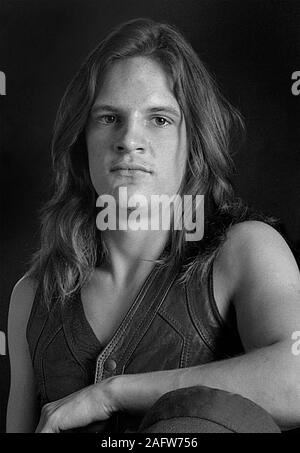 Mark Evans Bass player of AC/DC 1976 - Stock Photo