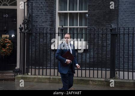 London, UK. 16th Dec, 2019. Matt Hancock, Health Secretary leaving Downing Street following a cabinet meeting.  Claire Doherty/Alamy Live News - Stock Photo