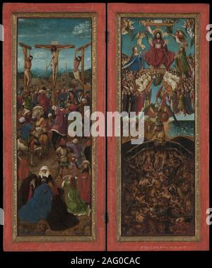 The Crucifixion; The Last Judgment, ca. 1440-41. - Stock Photo