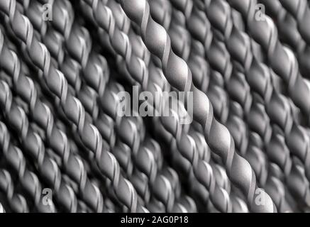 Metal drill bits for making holes in metal and wood. - Stock Photo