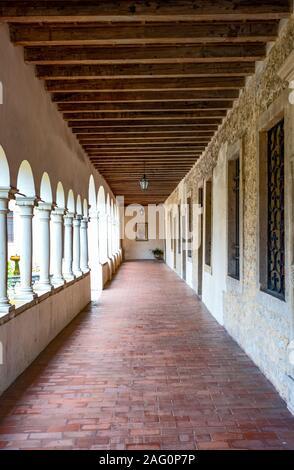 Follina, Italy,  the balcony of the Cistercian Abbey of Santa Maria